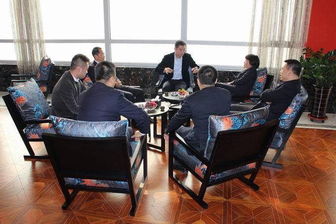 锦州银行副行长兼锦州分行行长王新及锦州分行副行长罗岩、天桥支行行长陈世强到我公司考察